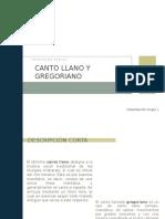 Canto Llano y Gregoriano