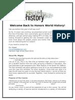 migdal  expectation sheet honors world history