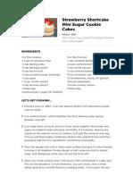 Strawberry Shortcake With Sugar Cookie