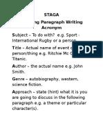 staga opening paragraph plan