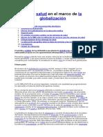 Etica y Salud en El Marco de La Globalización