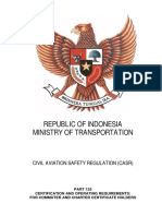 CASR Part 135 Amdt. 11 - Certification & Operating Requirement Commuter and Charter