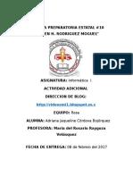 Actividad Adicional Semestre 2 Informatica