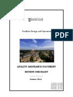 Quality Assurance Deliverables Checklist 2014