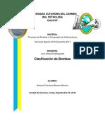 Clasificación de Bombas