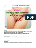 The Dangers of Holding Pee and Urine Infection
