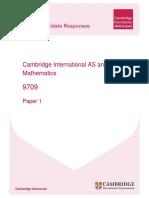 9709 Mathematics Paper1 ECR v1