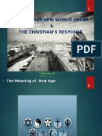 The New Age New World Order and the Christian Response