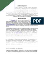 Antropologismo y Personalismo.