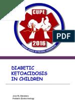 Management of Diabetic Ketoacidosis in Children (Prof. Dr. Dr. Jose R. L. Batubara, SpA(K))
