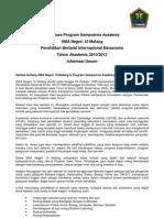 SMAN 10 Malang, General Info Sampoerna Foundation