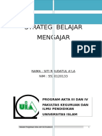 Strategi Belajar Mengajar by Siti