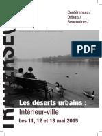 Les déserts urbains
