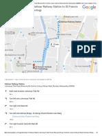 Dahisar Railway Station, Lokmanya Tilak Road, Bharucha Rd, Krishna Colony, Dahisar West, Mumbai, Maharashtra 400068 to St.francis Institute of Technology, Mt. Poinsur, S.v.P
