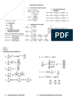 Derivatives and Integration Formulas - rev