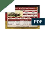 Team Yankee - Unit Card - Volksarmee - BMP-2 Mot-Schützenkompanie
