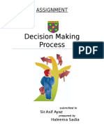Assignment - Decision Making Process