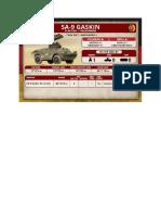Team Yankee - Unit Card - Volksarmee - SA-9 Gaskin Flarakzug