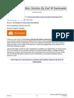 Calculus 6th Edition Solution by Earl w Swokowski 2