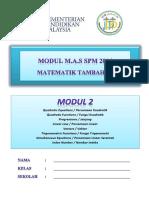 Modul 2 Add Maths 2016 (Jppp)