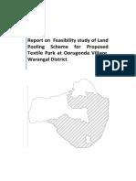 Development of Integrated Textile Park at Warangal (Oorugonda)  Report (1)