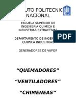 VENTILADORES,CHIMENEAS,QUEMADORES