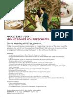 Dream Wedding Package at Grand Hyatt Bali