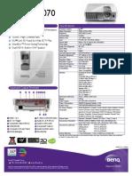Manufacturer Brochure BENQ w1070 24-014-321