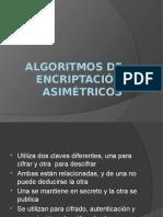 Algoritmos de Encriptacion Asimetricos