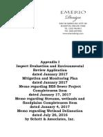 January 2017 Appendix I Environmental Impact Evaluation