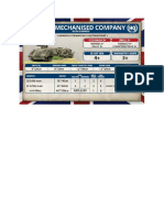 Team Yankee - Unit Card - GB - FV432 Mechanised Company HQ