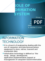Role of Information System (1)