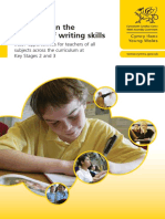 Guidance on the Teaching of Writing Skills