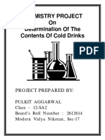 Chemistry class 12 project