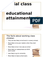 class and education- out of school factors