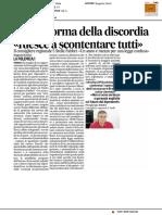 """ERSU, riforma della discordia. Per Fabbri """"riesce a scontentare tutti"""" - Il Corriere Adriatico dell'8 febbraio 2017"""
