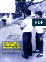 Children's Citizenship In Bengaluru