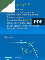 Lengkung v & H-Sipil