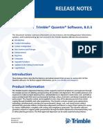 Quantm Release Notes v8.03