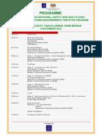 Program OSH 6 November 2012