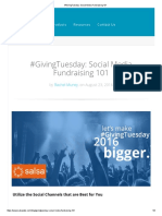 #GivingTuesday_ Social Media Fundraising 101
