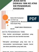 Implikasi Akta Pendidikan 1996 Ke Atas Sistem Pendidikan