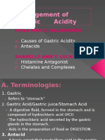 Management of Gastric Acidity
