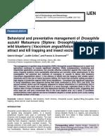 Behavioral and preventative management of Drosophila suzukii Matsumura (Diptera