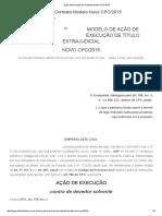 Ação de Execução de Contrato Modelo CPC_2015