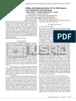 Mathematical Modelling and Implementation of Net metering on MATLAB/SIMULINK platform
