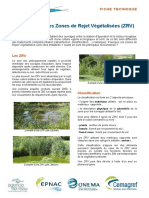 Point Sur Les Zones de Rejet Vegetalisees
