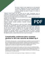 Diabet Factori de Risc Privint Boli Cardiovasculare