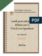 Modelli Operativi Nella Didattica Dell Italiano L2 Slide