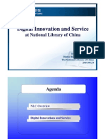 Digital Innovation and Services at National Library of China